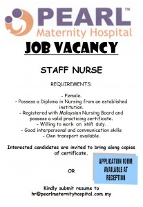 JOB VACANCY FOR STAFF NURSE POSITION